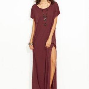 T-Shirt Maxi Dress with Slit